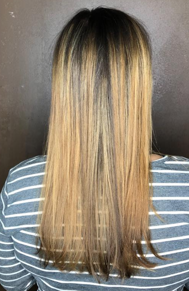 Long straight balayage blonde - Milwaukee's Best Hair Salon - veronica's hair studio