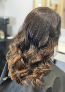 brown hair with subtle highlights - veronica's hair studio milwaukee